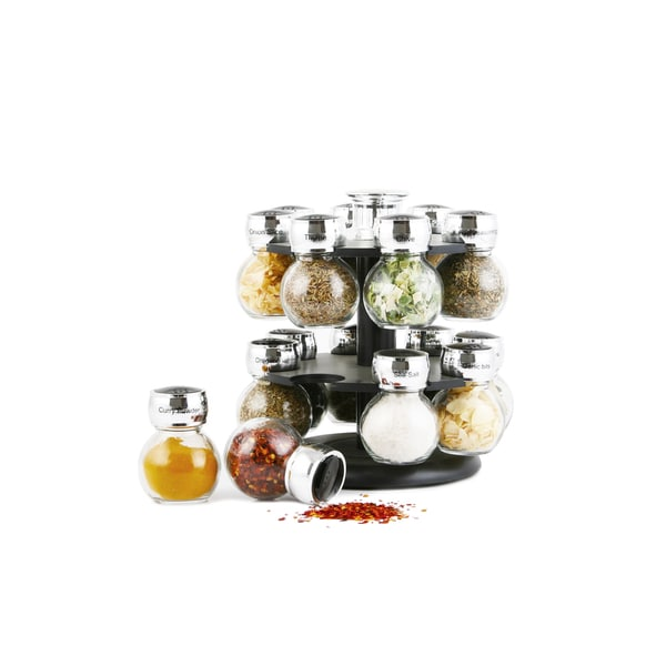 Orii 16-jar Spice Rack Set