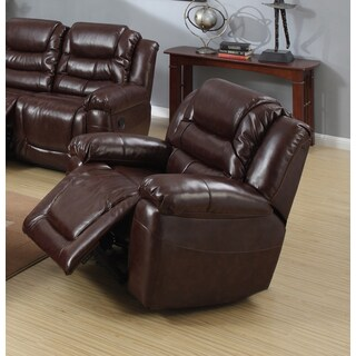 Samson Burgundy Bonded Leather Rocking Reclining Chair