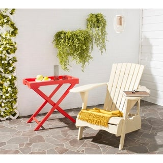 Safavieh Outdoor Living Mopani Adirondack Beige Acacia Wood Chair