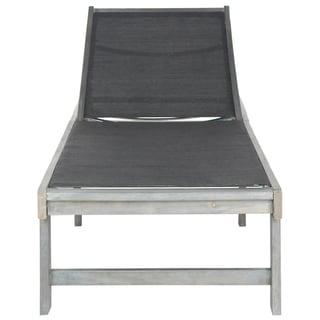 Safavieh Outdoor Living Manteca Ash Grey Acacia Wood Lounge Chair
