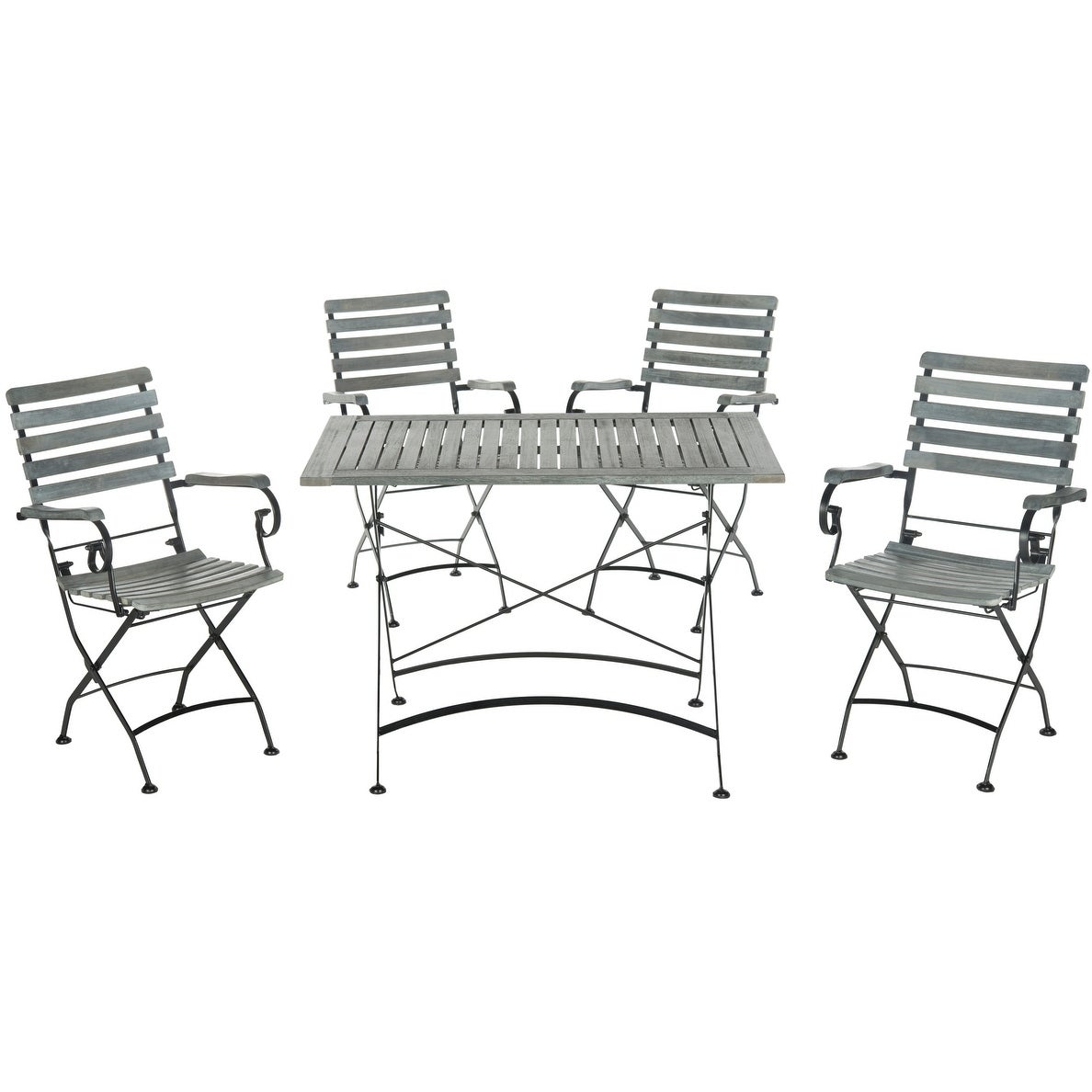 Safavieh Outdoor Living Lawndale Ash Grey Acacia Wood 5-piece Dining Set at Sears.com