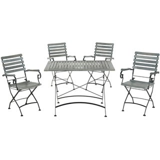 Safavieh Outdoor Living Lawndale Ash Grey Acacia Wood 5-piece Dining Set