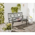 Safavieh Outdoor Living Piedmont Ash Grey Acacia Wood Folding Bench