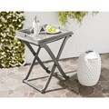 Safavieh Outdoor Living Covina Ash Grey Acacia Wood Folding Tray Table