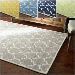 nuLOOM Hand-tufted Lattice Wool Geometric Rug (5' x 8')