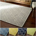 nuLOOM Hand-tufted Lattice Wool Geometric Fancy Rug (5' x 8')