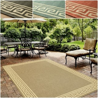 nuLOOM Indoor/ Outdoor Greek Key Porch Rug (9' x 12')