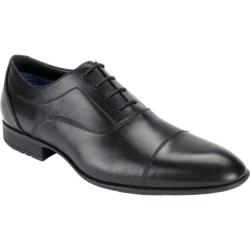 Men's Rockport Dialed In Captoe Black Leather