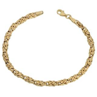 Fremada 10k Yellow Gold Byzantine Bracelet (7.5 inch)