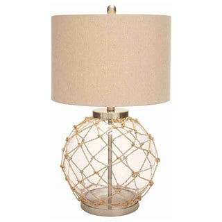 Knotted Net Round Glass Table Lamp