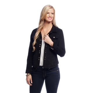 Women's Black Corduroy Shirttail Jacket