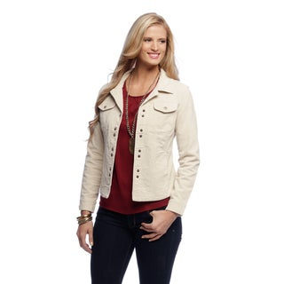 Women's Natural Corduroy Shirttail Jacket