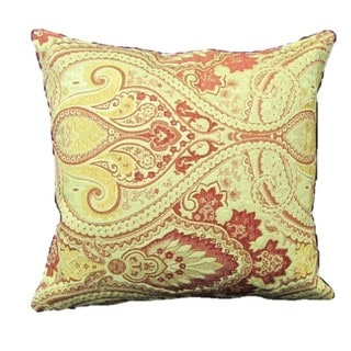 French Woven Victorian Filigree Cotton and Wool Design Pillow