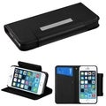 BasAcc Black Card Slots Book-style Leather Case Cover for Apple iPhone 5/5s