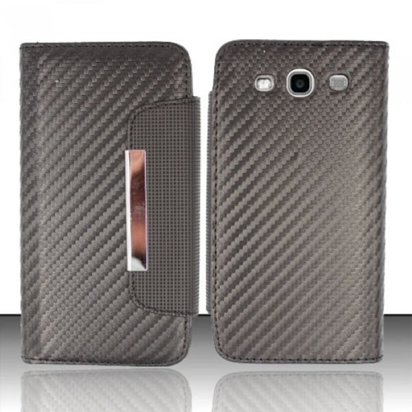 INSTEN Magnetic Flap Texture Book-style Leather Phone Case Cover for Samsung Galaxy S3