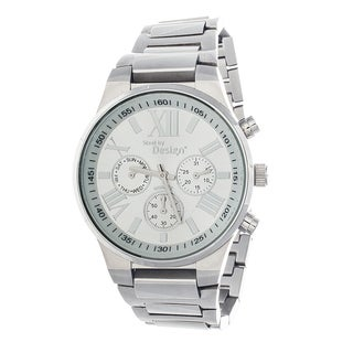 Steel by Design Men's Stainless Steel Chronograph Watch