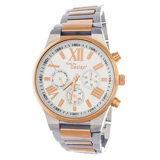 Steel by Design Men's Two-tone Stainless Steel Chronograph Watch