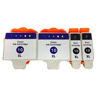 KODAK 10 Color Set EASYSHARE 5000 3200 5200 7200 9200 ESP 3 5 7 9 ESP Office 6100 Ink Cartridge (Pack of 4)