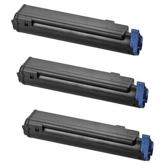 Toner Cartridges B4400 43502301 Black for Okidata OKI B4500 B4550 B4600 (Pack of 3)