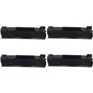 HP CF283A Black Toner Cartridge for HP LaserJet M127fn/ M127fw (Pack of 4)