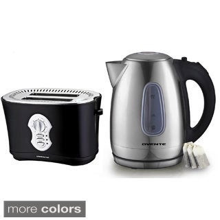 Ovente Stainless Steel Electric Kettle with Toaster