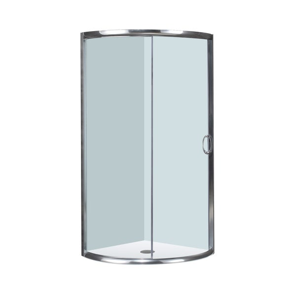 "Aston 40"" x 40"" Round Chrome Shower Enclosure"