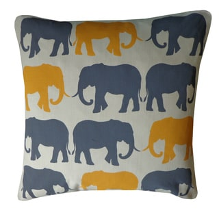 Ricesha Yellow Grey Decorative Throw Pillow