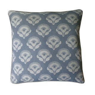 Jiti Poppy Print Pale Blue 18-inch Decorative Throw Pillow