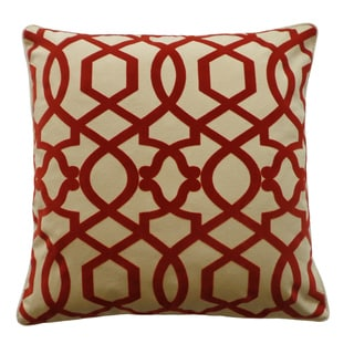 Tangle Red Decorative Throw Pillow