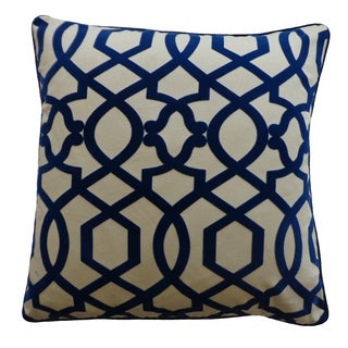 20 x 20-inch Tangle Blue Decorative Throw Pillow