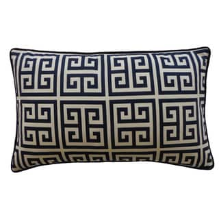 Riddle Navy Decorative Throw Pillow