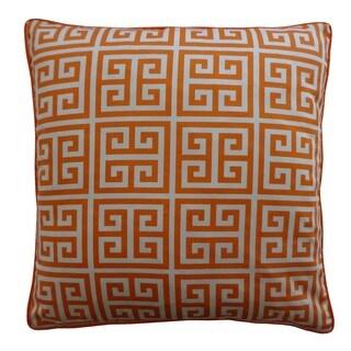 20 x 20-inch Riddle Orange Decorative Throw Pillow