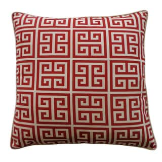 Riddle Red Decorative Throw Pillow