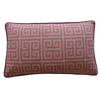 12 x 20-inch Riddle Pink Decorative Throw Pillow