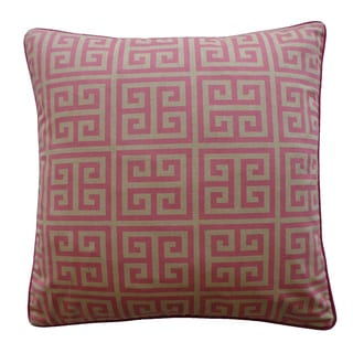 20 x 20-inch Riddle Pink Decorative Throw Pillow