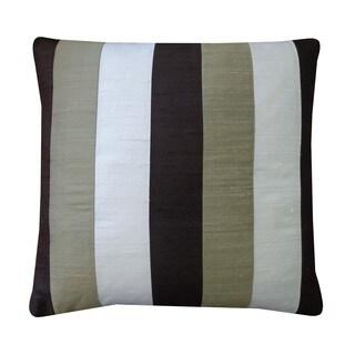 Zebra Brown Cream Sage Decorative Throw Pillow