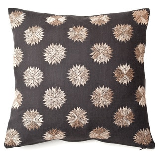 Sufi Charcoal Decorative Throw Pillow