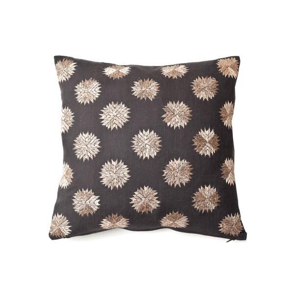 Sufi Charcoal Decorative Throw Pillow