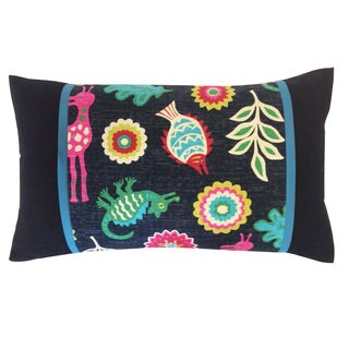 Noah Pieces Black Decorative Throw Pillow