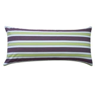 12 x 26-inch Funstripe Purple Decorative Throw Pillow