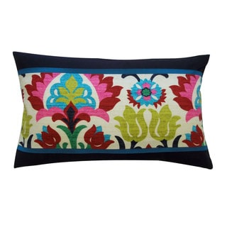 Santana Pieces Cream Decorative Throw Pillow