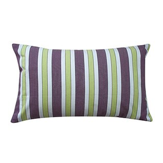Jiti Funstripe Purple Decorative Throw Pillow
