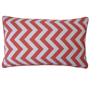 12 x 20-inch Ripple Red Decorative Throw Pillow