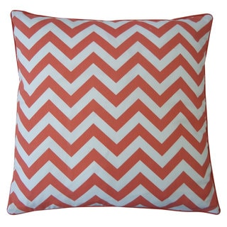 20 x 20-inch Ripple Red Decorative Throw Pillow