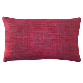 Matka Center Red Decorative Throw Pillow