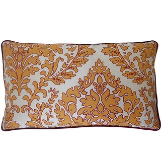 12 x 20-inch Turkish Leaves Red Decorative Throw Pillow