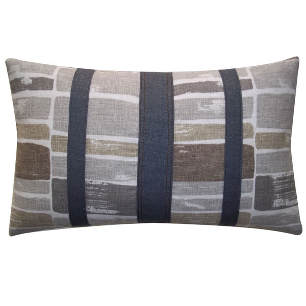 Martin Patch Grey Decorative Throw Pillow