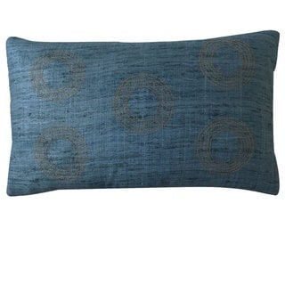 Matka Center Aqua Decorative Throw Pillow