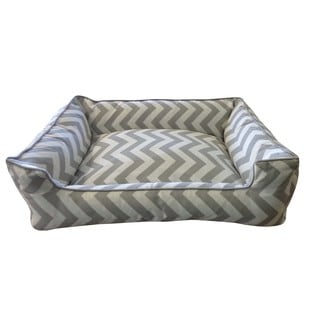 Lightning Grey/ White Small Chill Pet Bed