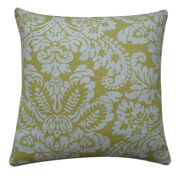 Hibiscus Lemon Decorative Throw Pillow